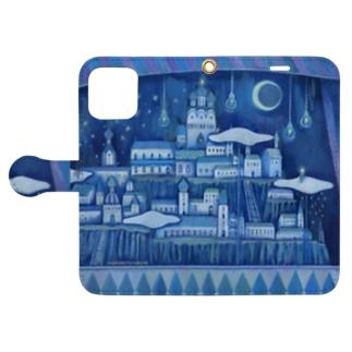 「見知らぬ街の見知らぬ風景」スマホケース Book-style smartphone case