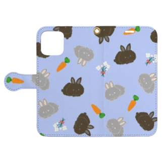 Baby rabbits Book-style smartphone case