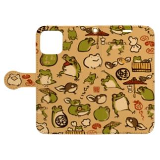 蛙とおたま Book-style smartphone case