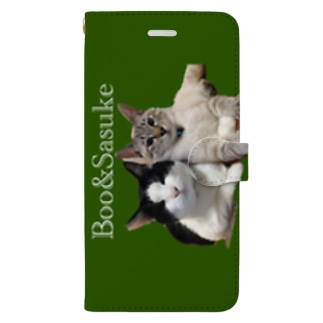 Iさまご依頼品ぶー&サスケ Book-style smartphone case