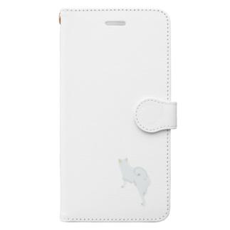 いぬころ@柴犬屋の雪と白柴(背景なし) Book-style smartphone case
