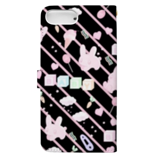 ウサギ・パターン・ファンシー(★) Book-Style Smartphone Case