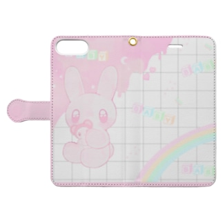 B.A.B.Y.うさぎ ♡。 Book-Style Smartphone Case