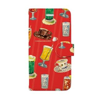 喫茶店の飲み物 Book-style smartphone case