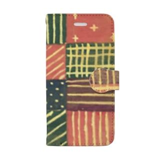 モヨウ1 Book style smartphone case