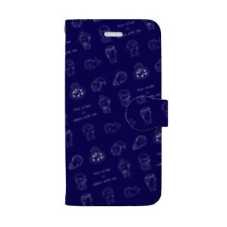 紺色1 Book-style smartphone case