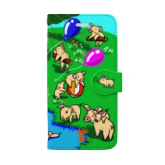 The piglets land Book-style smartphone case
