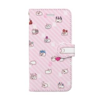 うさえもピンク Book-style smartphone case