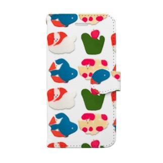 さぶ挟み絵の手帳型スマートフォンケース Book-style smartphone case
