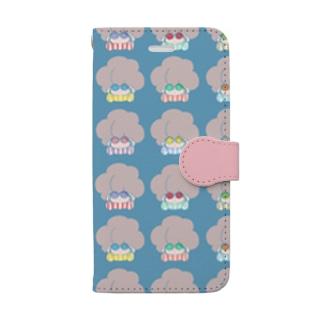 イロメガネノアフロ Book style smartphone case