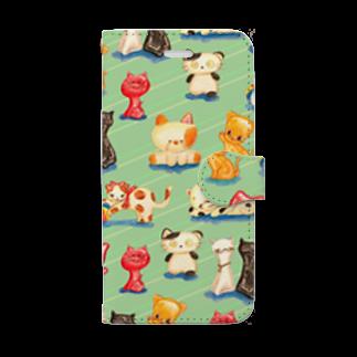 さぶのねこの玩具 Book style smartphone case