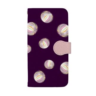 ◆ 京飴 紫紺色 ◆ Book style smartphone case