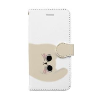 にゃーさんおっぴろげスタイルiPhoneケース Book-style smartphone case