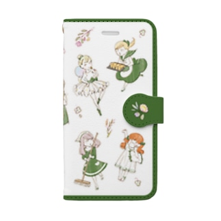iPhone6s/6,7~8用 crescent ガールズ Book-style smartphone case
