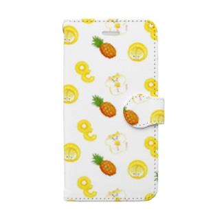 パイン×ハムスター Book-style smartphone case