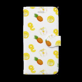PU-PUのパイン×ハムスター Book-style smartphone case