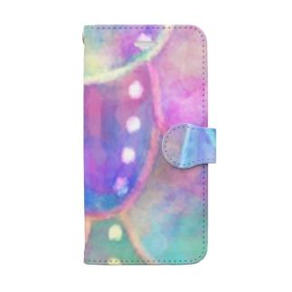 水彩カラフル Book-style smartphone case