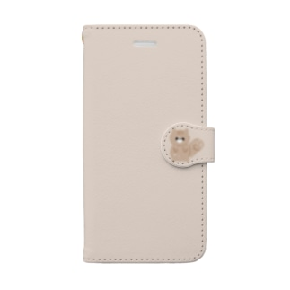 【iPhone6/6s/7/8用】リス*クレヨンタッチ*背景ベージュ Book-style smartphone case