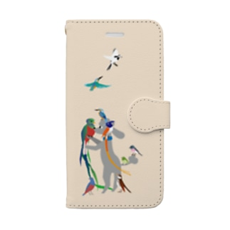 with birds 1 Book-style smartphone case