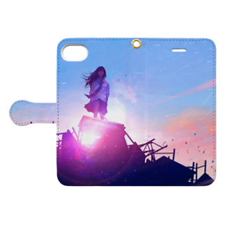 watabokuのThe End Never Comes Book-style smartphone caseを開いた場合(外側)