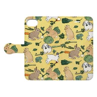 お野菜大好きうさぎさん Book style smartphone case