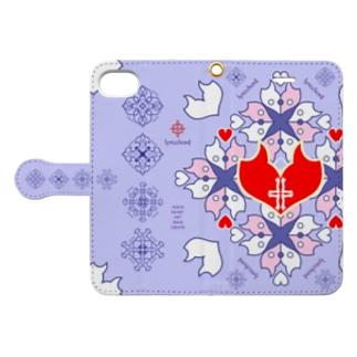 浪漫花-QUEEN-/ラベンダー Book style smartphone case
