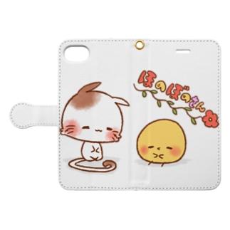 ほのぼのねこさんとぴよみさん Book style smartphone case