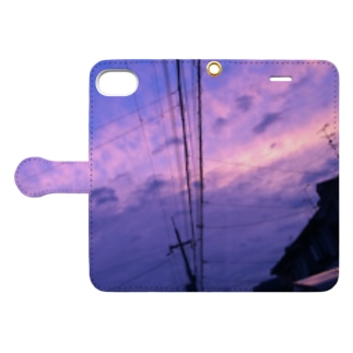 あの日見た空は綺麗だった Book-style smartphone case