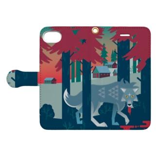 ブラッドな狼 Book-style smartphone case
