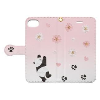 桜咲くパンダ Book-style smartphone case