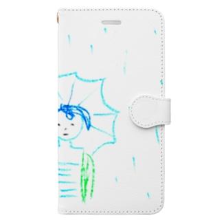 ばか。雨の、ばか。 Book-style smartphone case