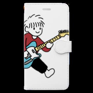 踊るこどもたちの夢はロックスター Book-style smartphone case