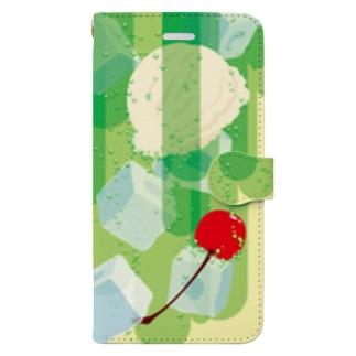フォーリングクリームソーダ Book-style smartphone case