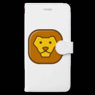 willnetのSavanna lion face Book-style smartphone case