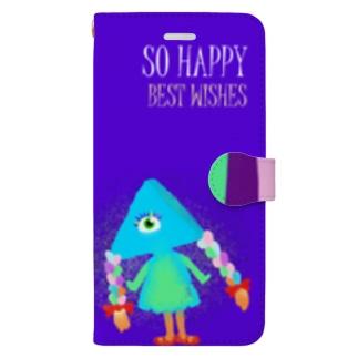 いろどりおさげちゃん Book-style smartphone case