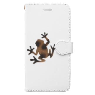 茶色いカエル Book style smartphone case