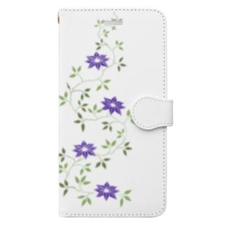 鉄扇の花 Book-style smartphone case