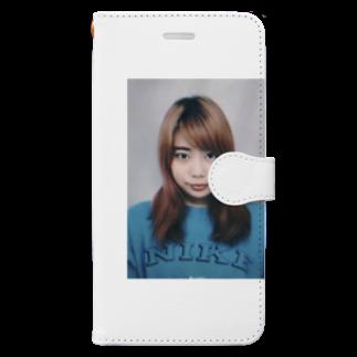 IQ18 のよろしくない証明写真 Book-style smartphone case