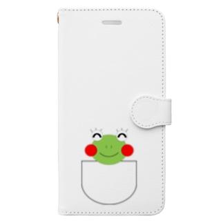 ポケット Book style smartphone case