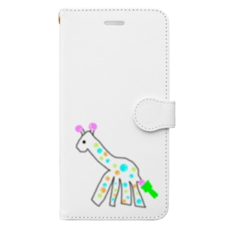しゃぼんだまのきりん Book style smartphone case