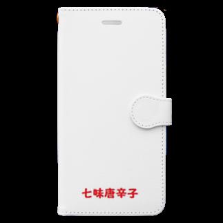 アメリカン★ベース        の七味唐辛子 辛さ Book style smartphone case