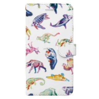 どうぶつのホネ[pattern-A] Book-Style Smartphone Case