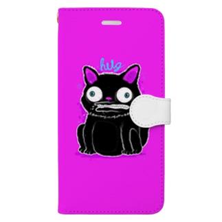 Black Cat Hot Pink Book-style smartphone case