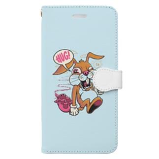 Bunny Light Blue Book-style smartphone case