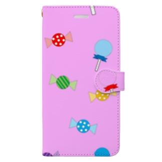 トリックオアトリートキャンディ(ピンク) 手帳型スマートフォンケース