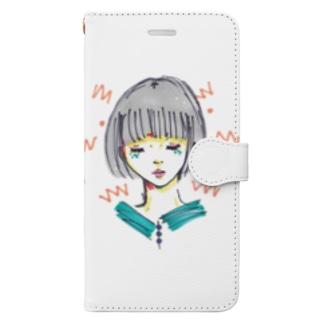 おしとやかな炎 Book-style smartphone case