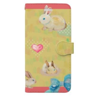 ラブリーうさぎ Book-style smartphone case