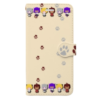 わんにゃー Book-style smartphone case