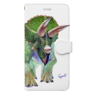 Triceratops Book-style smartphone case