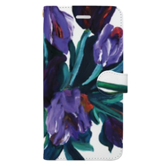 purple flower Book-style smartphone case